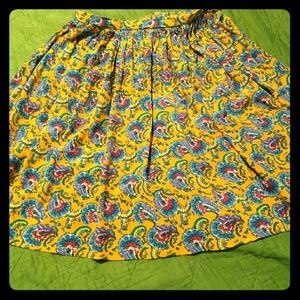 Vtg plus size paisly skirt